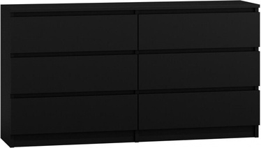 Top E Shop Malwa M6 Chest of 6 Drawers Black