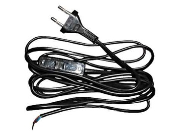 Zamel Power Cord With Swith And Plug 1.9m