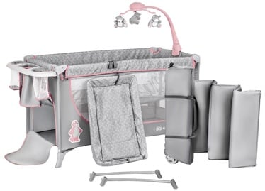 KinderKraft Joy Travel Cot With Accessories Pink