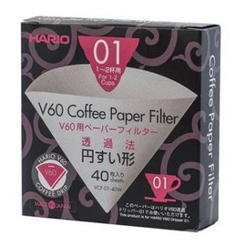 Hario Paper filters For Drip V60-01 40pcs
