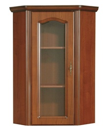 Black Red White Natalia NADN60 L Glass Door Cabinet Cherry Wood