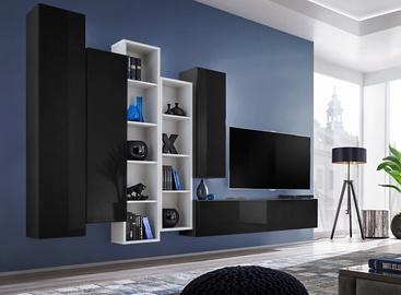 ASM Blox V Living Room Wall Unit Set Black/White
