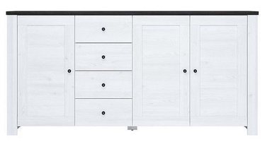 Black Red White Antwerpen Chest Of Drawers 40x203x100.5cm White
