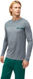Audimas Fine Merino Wool Long Sleeve Shirt Mid Grey S