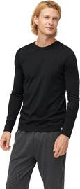 Audimas Fine Merino Wool Long Sleeve Shirt Black M