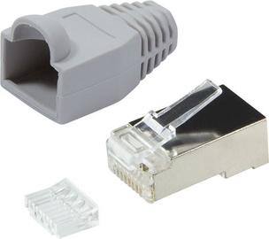 LogiLink RJ-45 Unshielded Plug Connector CAT.6 Gray 100pcs