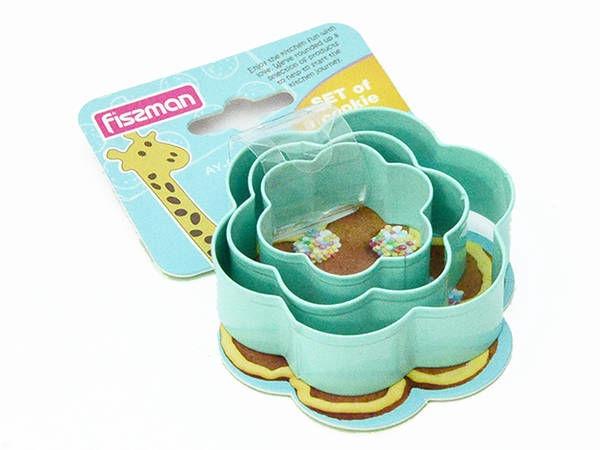 Fissman Flower Cookie Cutters 3pcs