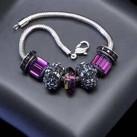 Diamond Sky Bracelet Becharmed Pavé Mini V With Swarovski Beads