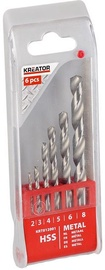 Kreator Metal HSS Drill Set 2, 3, 4, 5, 6, 8mm 6PCS