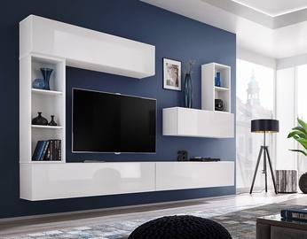 ASM Blox I Living Room Wall Unit Set White