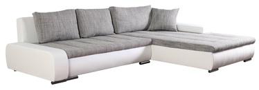 Угловой диван Platan Tivano Gray/White, 302 x 213 x 80 см