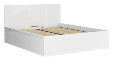 Кровать Black Red White Tetrix B Gloss White, 160 x 200 cm