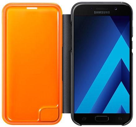 Samsung Neon Flip Cover For Samsung Galaxy A5 A520 Black