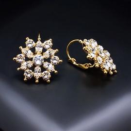 Diamond Sky Earrings With Crysals From Swarowski Crystal Flower II