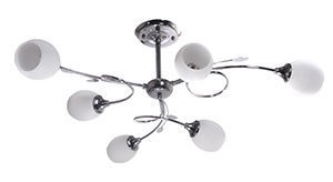 Verners Ervin Ceiling Lamp 6x40W E14 Nickel
