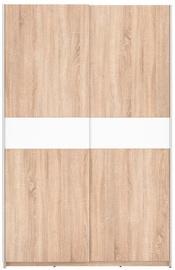 Riidekapp Black Red White F27 125 Oak, 125x62x195 cm