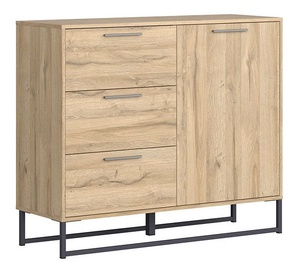 Black Red White Gamla Chest Of Drawers 112.5cm Oak