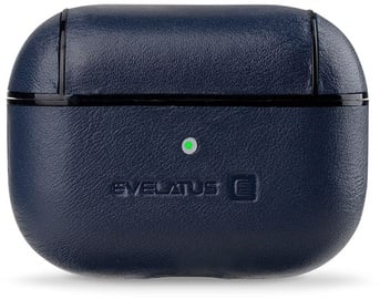 Evelatus Leather Protective Case For Apple AirPods Pro Dark Blue