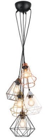 Trio Meike многоцветный, подвесной светильник, 5x E27