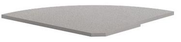 Skyland Imago PC-5.2R Reception Shelf 81.5x77.8x2.2cm Grey