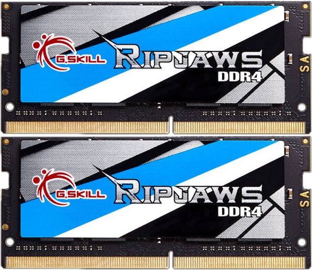 G.SKILL RipJaws 32GB 3200MHz CL18 DDR4 SODIMM KIT OF 2 F4-3200C18D-32GRS