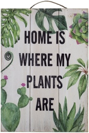 Home4you Wooden Printed Picture Country 25x35cm Plants 83766