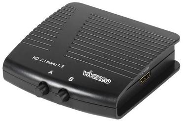 Vivanco Manual 2 Way HD Audio Visual Switching Unit 25349