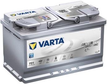 Аккумулятор Varta Silver Dynamic AGM F21, 12 В, 80 Ач, 800 а