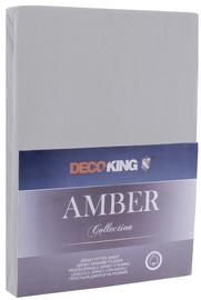 DecoKing Amber Bedsheet 140-160x200 Steel