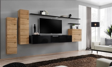 ASM Switch I Wall Unit Black/Wotan Oak