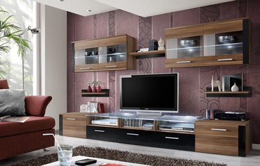 ASM Zoom Living Room Wall Unit Set Plum/Black