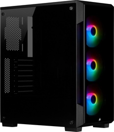 Corsair iCUE 220T RGB Tempered Glass Mid-Tower Smart Case Black