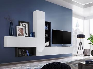 ASM Blox IV Living Room Wall Unit Set White/Black