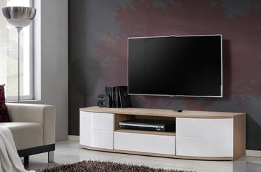 ТВ стол ASM RTV Ontario I San Remo Oak/White Gloss, 1500x480x430 мм