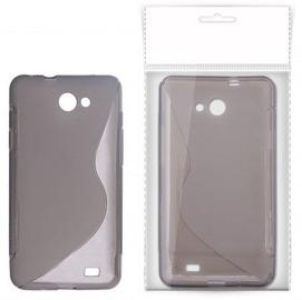 KLT Back Case S-Line LG Optimus Vu Silicone/Plastic Black/Transparent