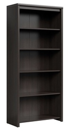 Black Red White Kaspian Open Bookshelf Wenge