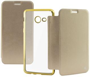 Ksix Metal Folio Cover For Samsung Galaxy J5 J530 Gold