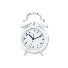 SN Quartz Table Clock 11.8x5.7x17cm White