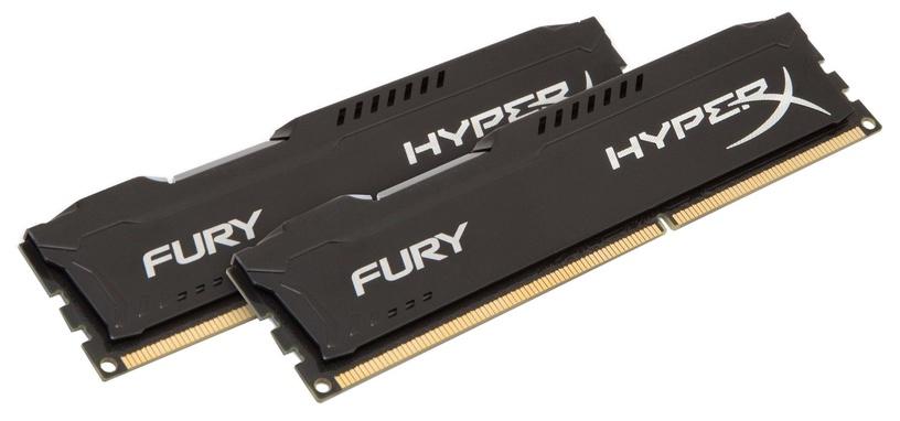 Kingston 16GB DDR3 PC12800 CL10 DIMM HyperX Fury Black Series KIT OF 2 HX316C10FBK2/16