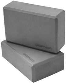 SportVida Eco EVA Foam Yoga Blocks 23х15х7.6cm 2pcs Grey