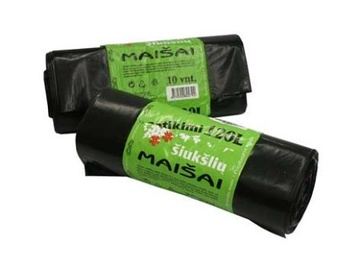 GARBAGE BAGS PLASTA STRONG 120L 10PCS