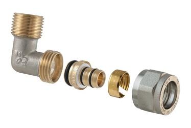 TDM Brass Double Demounted Elbow 3/4''x16mm 1475E