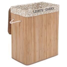 Songmics Bamboo Grain Clothes Basket 63cm Brown