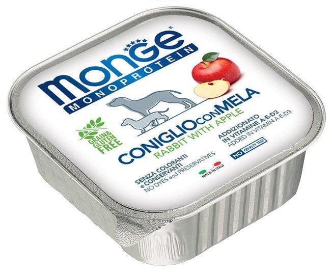 Monge Monoproteinic Fruits Pate Rabbit/Apple 150g