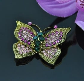 Vincento Brooch With Zirconium Crystal LD-1358