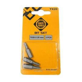 Kruvikeeraja otsikud TX20X25MM 3tk (FORTE ToolS)