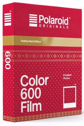 Polaroid Color 600 Film Festive Red Edition