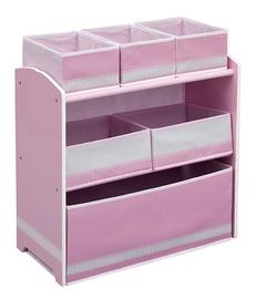 Delta Children Multi Bin Toy Organizer Pink