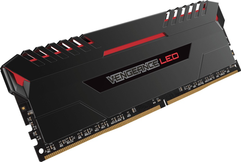 Corsair Vengeance LED 16GB 2666MHz DDR4 C16 Red DIMM KIT OF 2 CMU16GX4M2A2666C16R