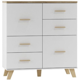 Cama Meble Lotta 110 2D4S Chest of Drawers Sonoma Oak/White